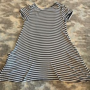 Lovers & Friends striped trapeze dress low back M